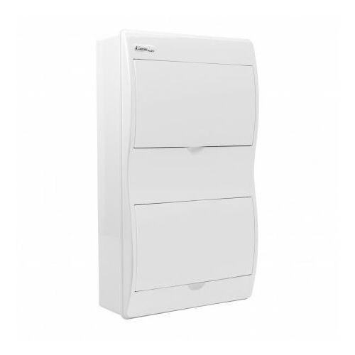 Rozdzielnica natynkowa FALA N+PE drzwi w kolorze obudowy białe RN-16/B 7.14 5603
