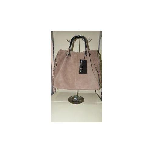 torebka skóra naturalna gardena nn shopper bag w stylu boho marki Ripani