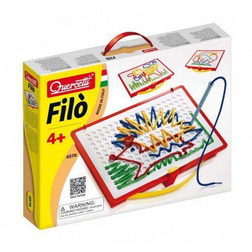Filo - wyszywanie sznureczkami, 18 szablonów - Quercetti (8007905005705)
