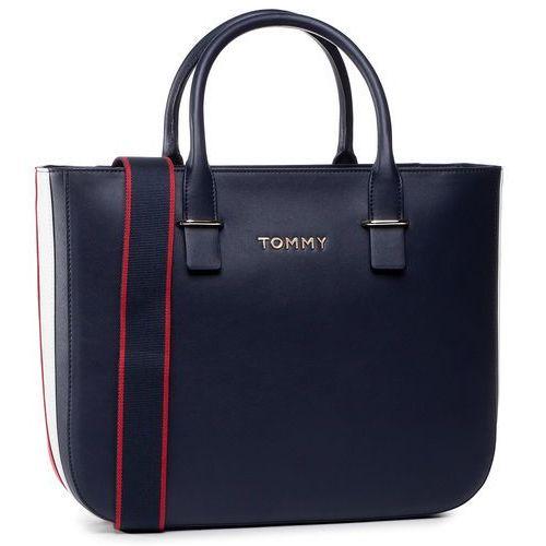 Torebka - tommy staple satchel aw0aw07990 cjm marki Tommy hilfiger