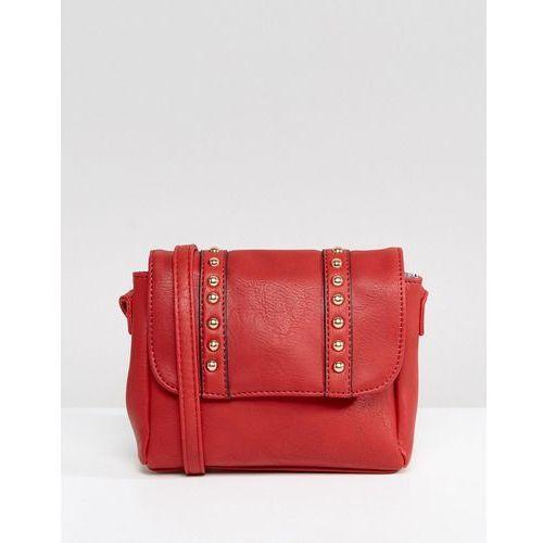 Yoki fashion Yoki across body bag with studding - red