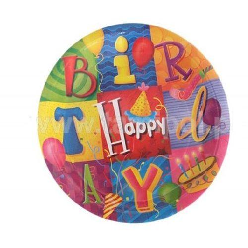 """ZESTAW NACZYŃ PARTY"""" Happy Birthday """"- 4"""