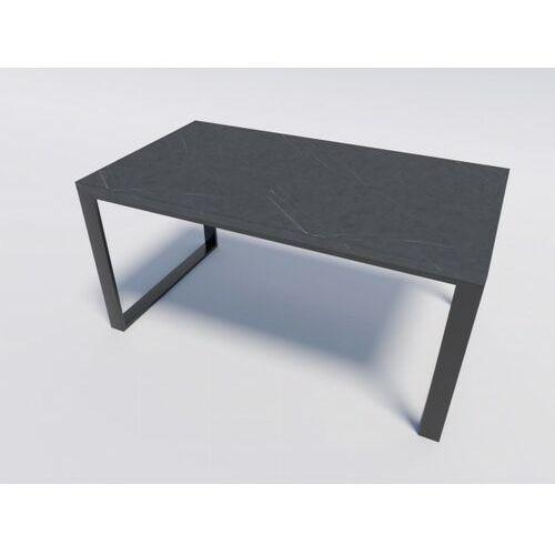 Solidny i elegancki stół modern loft reno 140/90 efekt kamienny marki Reqube