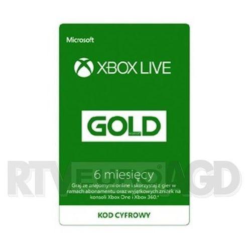Microsoft Subskrypcja xbox live gold (6 m-ce) [kod aktywacyjny]