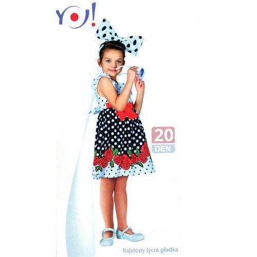 Rajstopy YO! art.RA 42 104-158 gładkie 20 den 116-122, beżowy jasny, YO!, kolor beżowy