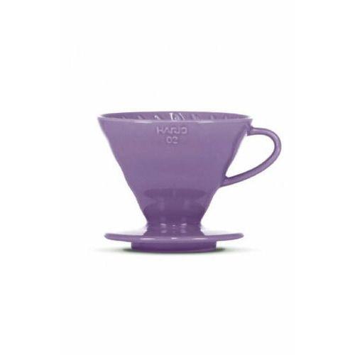 Ceramiczny dripper HARIO V60-02 fioletowy + 40 szt. filtrów (4977642728493)