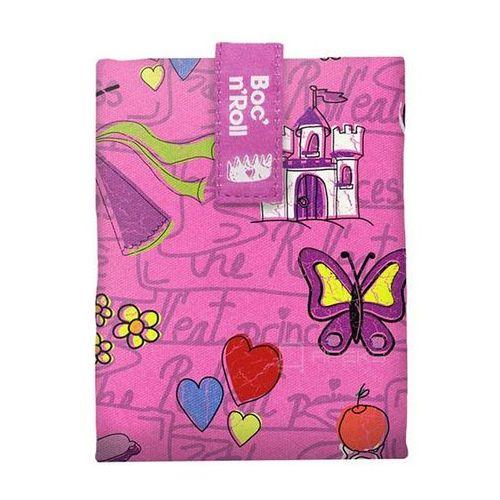 Boc'n'Roll Roll'n'Eat Kids chusta do zawijania jedzenia / lunchbox - Princess różowa
