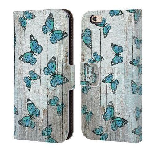 Etui portfel na telefon - COUNTRY CHARM blue, kolor niebieski
