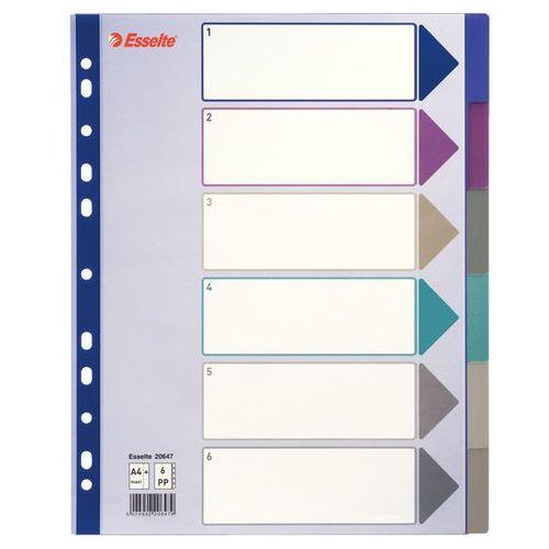 Przekładki indeksujące multicolor maxi a4+ 6k. marki Esselte