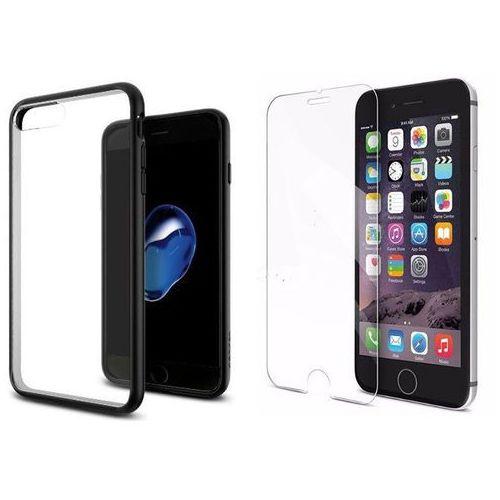 Zestaw | spigen sgp ultra hybrid black | obudowa + szkło ochronne perfect glass dla modelu apple iphone 7 plus marki Sgp - spigen / perfect glass