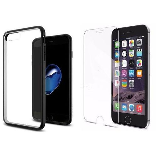 Zestaw   Spigen SGP Ultra Hybrid Black   Obudowa + Szkło ochronne Perfect Glass dla modelu Apple iPhone 7 Plus