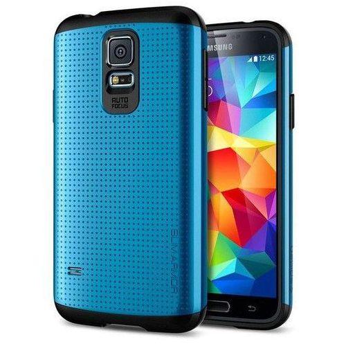 Spigen SGP Slim Armor Electric Blue   Oryginalna obudowa etui dla modelu Samsung Galaxy S5 / S5 Neo - Niebieski, kolor niebieski