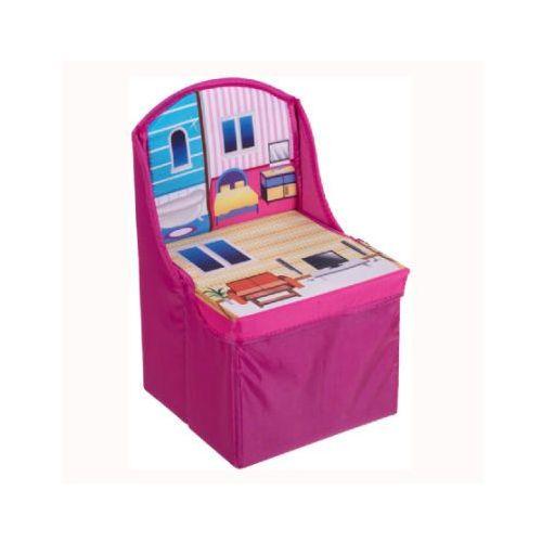 składane krzesło dziecięce kolor różowy marki Bieco