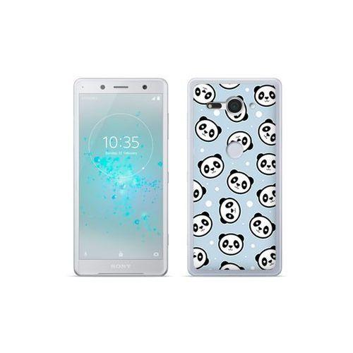etuo Fantastic Case - Sony Xperia XZ2 Compact - etui na telefon Fantastic Case - panda na niebieskim tle