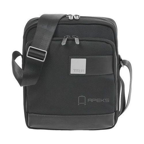 """power pack torba męska na ramię / saszetka na tablet 9,7"""" / 26 cm / czarny - czarny marki Titan"""