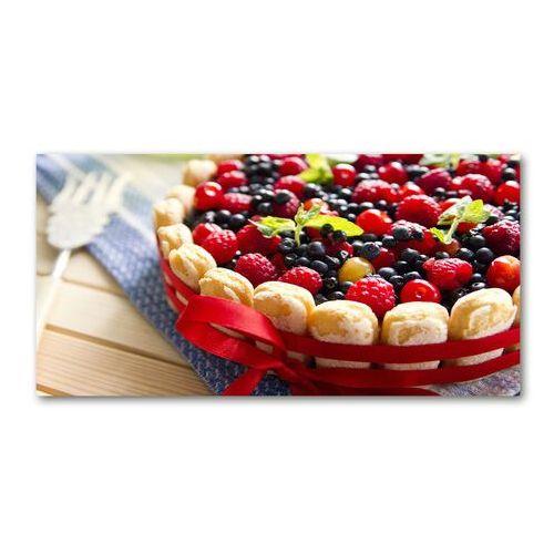 Wallmuralia.pl Foto obraz akryl ciasto owoce leśne