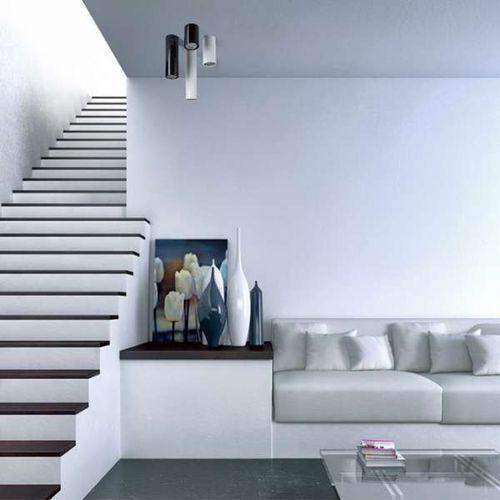 Natynkowa lampa sufitowa piano 15 67728 metalowa oprawa downlight tuba czarna marki Ramko