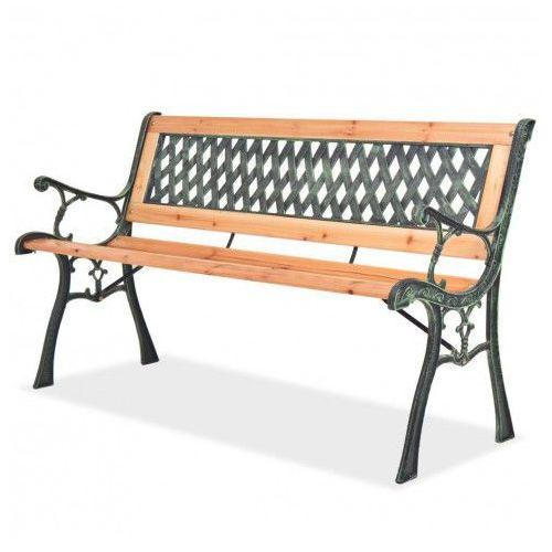 Drewniana ławka ogrodowa Rosa 2X, vidaxl_40262
