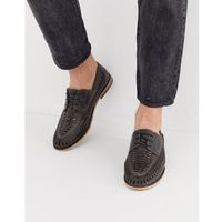River island lace up woven shoes in dark grey - grey