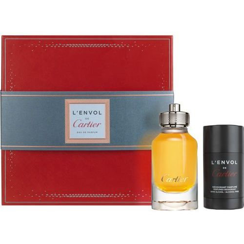Cartier L´Envol de Cartier zestaw Edp 80 ml + Deostick 75 ml dla mężczyzn (3432240500991)