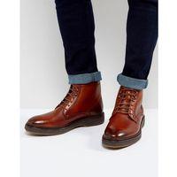 harper leather lace up boots - tan marki Base london