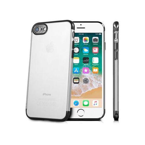 Etui Alogy luxury Apple iPhone 7/8 czarna ramka aparat - Czarny, kolor czarny