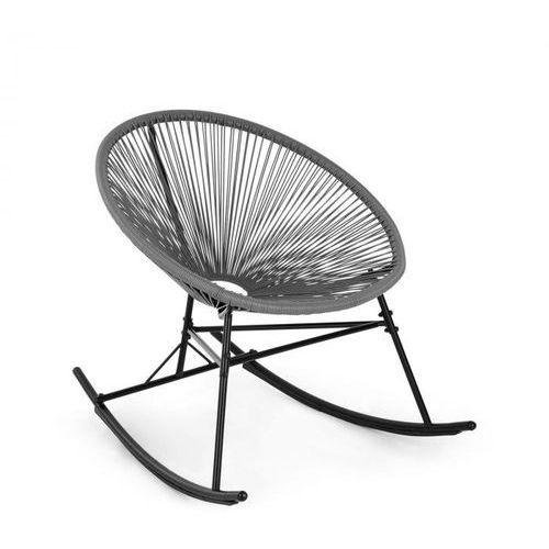 Blumfeldt roqueta fotel bujany styl retro plecionka 4 mm szary (4060656153013)