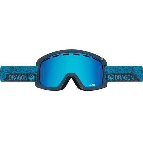 Gogle snowboardowe  - d1 - stone blue/blue steel + yellow red ion (661) marki Dragon