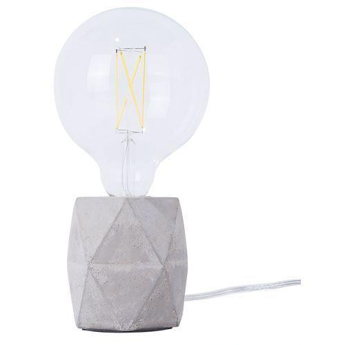 Lampa stołowa jasnoszara betonowa 10 cm besaya marki Beliani