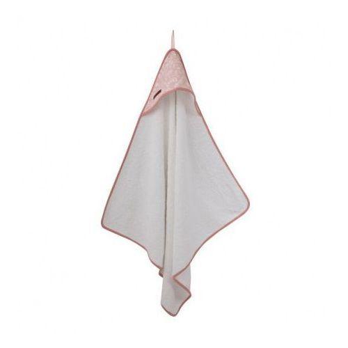 Little dutch Bawełniany ręcznik z kapturkiem - adventure pink -