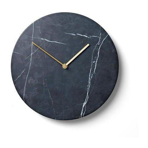 Zegar ścienny Marble czarny (5709262967049)