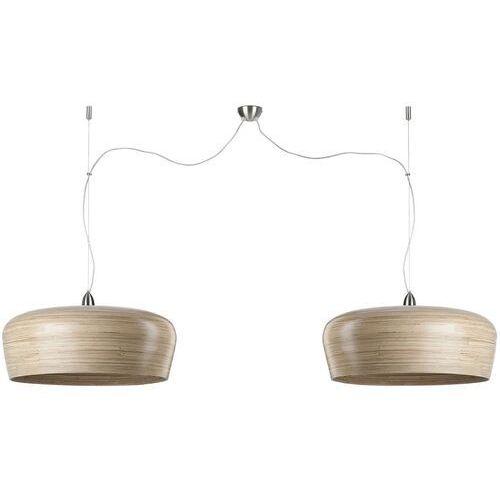 lampa wisząca bambusowa hanoi naturalna podwójna 60x25cm hanoi/h2/n marki It's about romi
