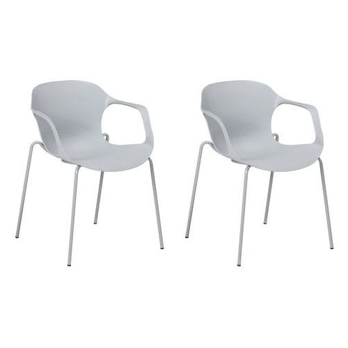 Beliani Zestaw do jadalni 2 krzesła szare elbert (7105271596818)