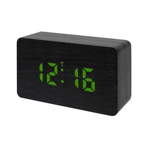 Bresser MyTime W budzik radiowy z wyświetlaczem LED czarny