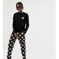 Asos design mix & match lounge joggers with christmas pud design - black