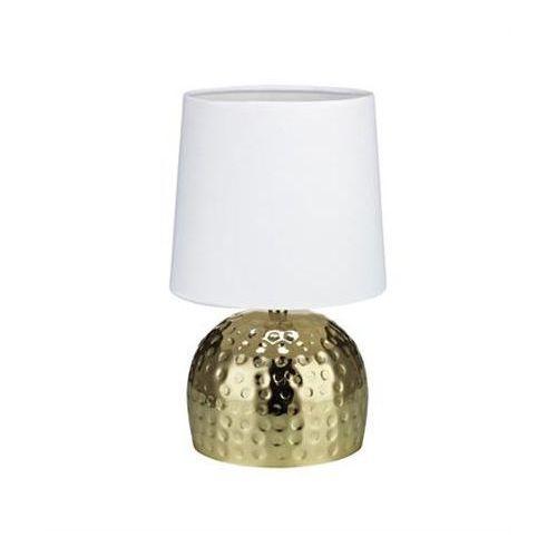 Lampa lampka oprawa stołowa Markslojd Hammer 1x40W E14 biała/złota 105963 (7330024554740)