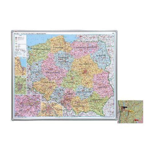 mapa polski administracyjna 1:700 000 102x120 cm, płyta miękka marki 2x3