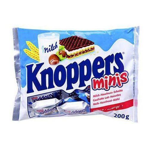 Knoppers mini wafle mleczne z orzechami laskowymi 200g marki Storck