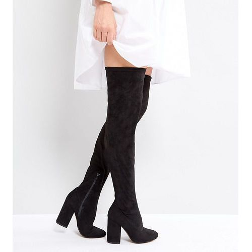 ASOS KATCHER TALL Heeled Over The Knee Boots - Black, kolor czarny