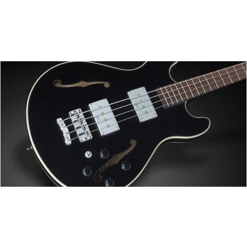 RockBass Star Bass 4-String, Black Solid High Polish, Passive, Fretted, Medium Scale gitara basowa