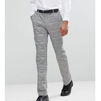 tall skinny suit trousers in prince of wales check - grey, Heart & dagger