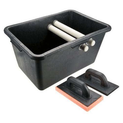 TOPEX 13A339 Zestaw glazurniczy, pojemnik 40l, paca z gumą, paca z gąbką miękką