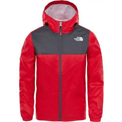 The North Face kurtka chłopięca B Zipline Rain Jacket Tnf Red/Graphite Grey XS - OKAZJE
