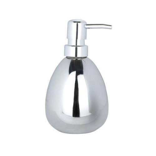 Dozownik do mydła POLARIS, ceramika chromowana - pojemnik na mydło w płynie, B00ADP3NRO