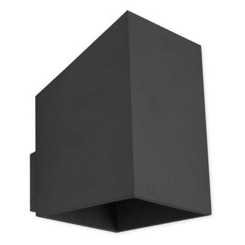 Kinkiet rubik długi czarny - czarny marki Lampex