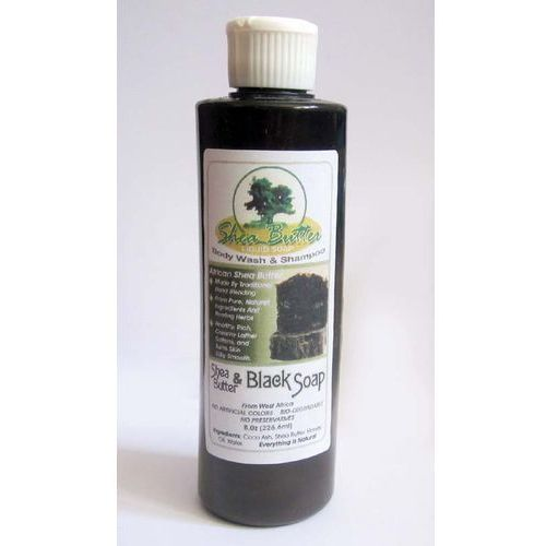 Liquid Shea Butter Black Soap - Ghana, M-S112