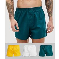 woven boxer in retro colours 3 pack multipack saving - multi marki Asos design