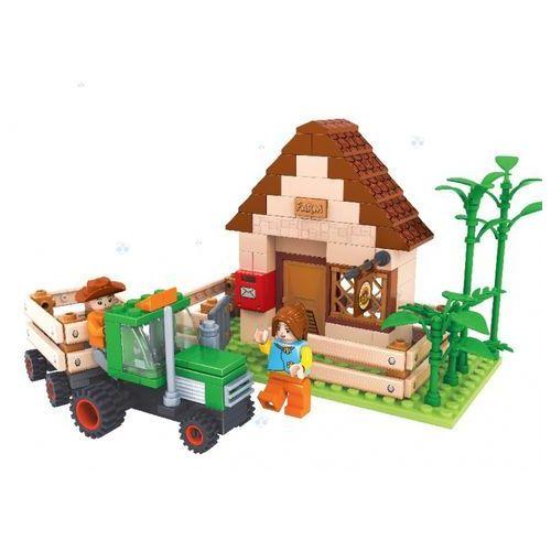 Dromader farma dom z traktorem 28502, klocki do zabawy