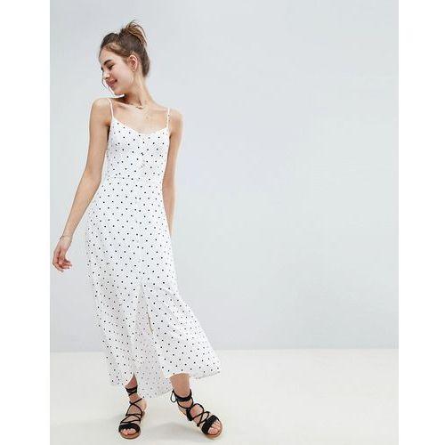 Hollister Button Through Maxi Dress - White
