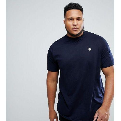Le Breve Plus Raw Edge Longline T-Shirt - Navy